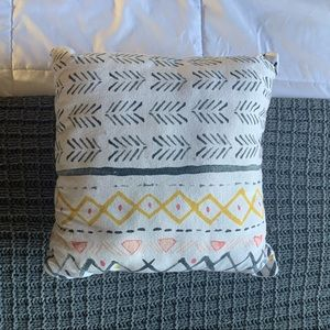 patterned throw pillow from target